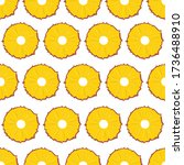 fruit seamless pattern ... | Shutterstock .eps vector #1736488910