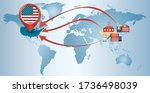 re shoring. local production.... | Shutterstock .eps vector #1736498039