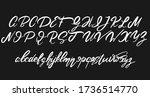 vector handwritten calligraphic ... | Shutterstock .eps vector #1736514770
