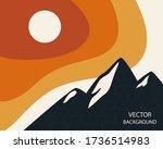 abstract landscape. sun ... | Shutterstock .eps vector #1736514983