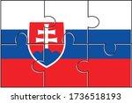 slovakia flag jigsaw puzzle....   Shutterstock .eps vector #1736518193