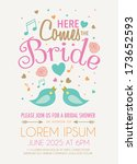 bridal shower invitation... | Shutterstock .eps vector #173652593