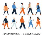 crowd of people wearing face...   Shutterstock .eps vector #1736546609