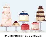 Vector Fancy Cakes Collection...
