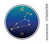 leo  sign. leo zodiac...   Shutterstock .eps vector #1736565509