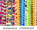 Bright Colorful Beads Made Of...