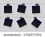blank instant photo frame set...   Shutterstock .eps vector #1736577293