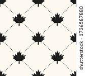 seamless vector geometrical... | Shutterstock .eps vector #1736587880