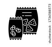 snacks black glyph icon. potato ... | Shutterstock .eps vector #1736588573