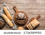 Fresh Bread On Wooden...