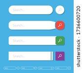 search bar vector design  set...