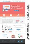 editable web template   flat... | Shutterstock .eps vector #173662538
