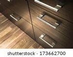 a wooden wardrobe drawer front  ... | Shutterstock . vector #173662700