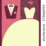 wedding card in elegant style....   Shutterstock .eps vector #173666954