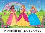 set  beautiful elf princesses....   Shutterstock .eps vector #1736677916