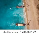 Aerial View From Drone Of...