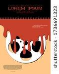 template for festival horror... | Shutterstock .eps vector #1736691323