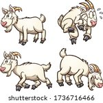 cartoon goat with different... | Shutterstock .eps vector #1736716466