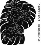 cloud tattoo  coloring book... | Shutterstock .eps vector #1736733050