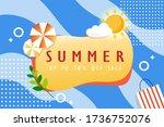 summer sale banner. graphic... | Shutterstock .eps vector #1736752076