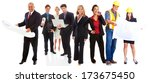 happy group of professional... | Shutterstock . vector #173675450