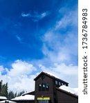 Breckenridge, Colorado / USA - January 2020: Snowy Breckenridge mountain ski resort in Colorado on a beautiful sunny day. - stock photo