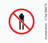 no hunger icon symbol   vector.   Shutterstock .eps vector #1736788073