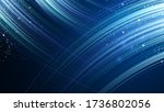 abstract blue line speed... | Shutterstock .eps vector #1736802056