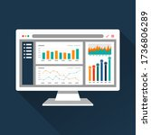 web analytic information on... | Shutterstock .eps vector #1736806289