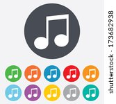 music note sign icon. musical... | Shutterstock . vector #173682938