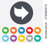 arrow sign icon. next button.... | Shutterstock . vector #173683373