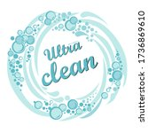 ultra clean. new formula.... | Shutterstock .eps vector #1736869610