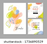trendy abstract templates with... | Shutterstock .eps vector #1736890529