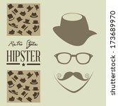 hipster design over gray ... | Shutterstock .eps vector #173689970