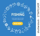fishing signs round design... | Shutterstock . vector #1736911439