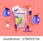 diet failure concept. male and... | Shutterstock .eps vector #1736922716