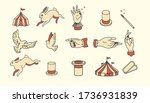 circus icons vintage flat... | Shutterstock .eps vector #1736931839