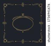 hand drawn golden luxury frame. ... | Shutterstock .eps vector #1736941676
