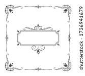 hand drawn luxury frame. decor... | Shutterstock .eps vector #1736941679