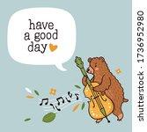 vector illustration of cute... | Shutterstock .eps vector #1736952980