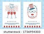 set of vintage 4th of july... | Shutterstock .eps vector #1736954303