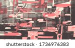 collage of torn street posters. ... | Shutterstock .eps vector #1736976383