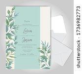 greenery watercolor wedding... | Shutterstock .eps vector #1736982773
