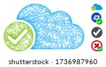mesh valid cloud web icon...