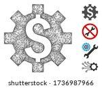 mesh dollar options web 2d... | Shutterstock .eps vector #1736987966