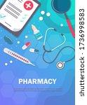 pharmacy background  pharmacy... | Shutterstock .eps vector #1736998583