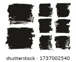 flat paint brush thin long  ...   Shutterstock .eps vector #1737002540