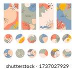 bundle of editable story... | Shutterstock .eps vector #1737027929