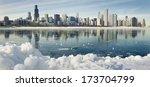 Winter Panorama Of Frozen...