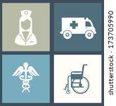 medical design over blue ... | Shutterstock .eps vector #173705990
